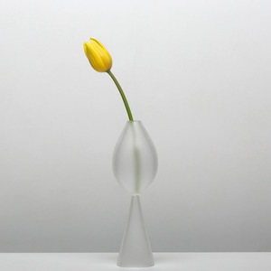 CLEAR B BUD VASE - FROSTED