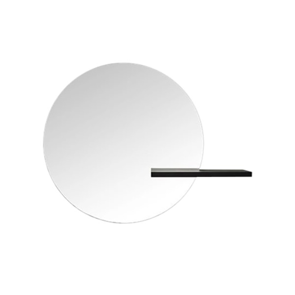 SHIFT MIRROR LARGE ROUND - BLACKSTAINED OAK (해외오더)