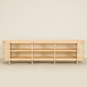 CANE COLLECTION TV CABINET (2 COLORS)