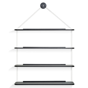 LIBRERIA PENSILE WIRE BOOKCASE - BLACK (해외오더)