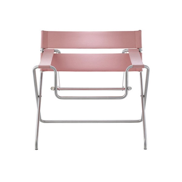 D4 BAUHAUS CHAIR - BAUHAUS STRAP / ROSA (OUTDOOR FABRIC)