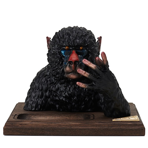 MANDRILL GLASSES & JEWERLY HOLDER (BLACK)