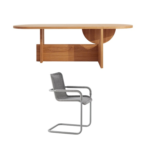 [PROMOTION] TECTA LOT TABLE (FIXED) + D41 CHAIR (4EA)