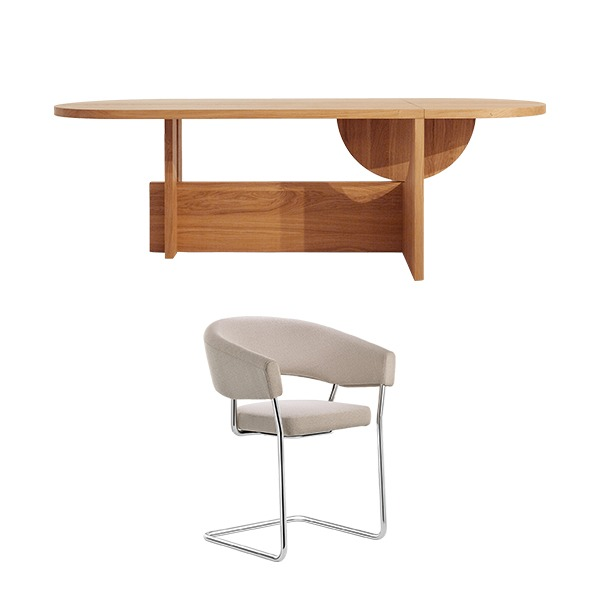 [PROMOTION] TECTA LOT TABLE (FIXED) + D9 CHAIR (4EA)