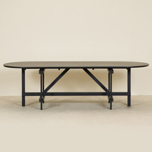CANE COLLECTION TABLE - BLACK
