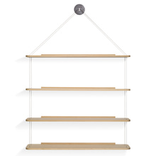 LIBRERIA PENSILE WIRE BOOKCASE - LACQUERED OAK (해외오더)