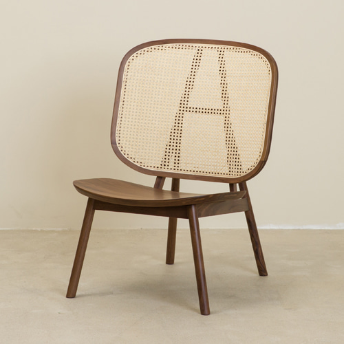 CANE COLLECTION LOUNGE CHAIR - WALNUT