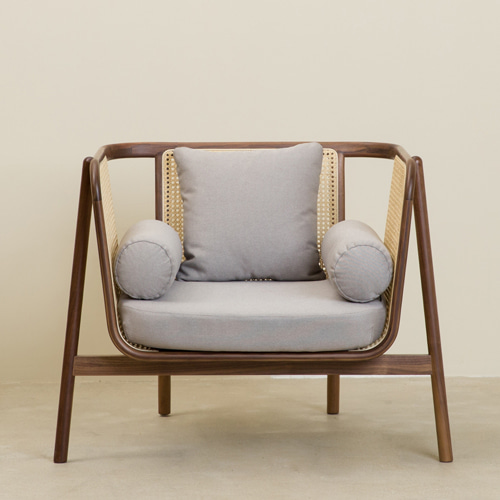 CANE SOFA 1P WALNUT - 01 (WALNUT NATURAL)