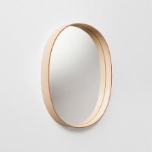 OVAL MIRROR - NATURAL