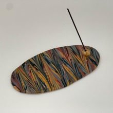 Marbled Incense Holder Oval - Taupe 12
