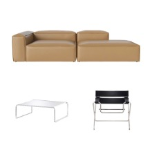[PROMOTION] COSIMA SOFA + TECTA D4 BAUHAUS CHAIR + K1A COFFEE TABLE (20% OFF)